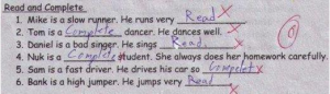 Funny Exam Answers - English